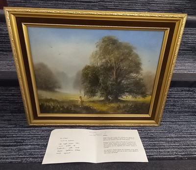 Lot 9 - Ted DYER (1940), 'Soft light across trees and...