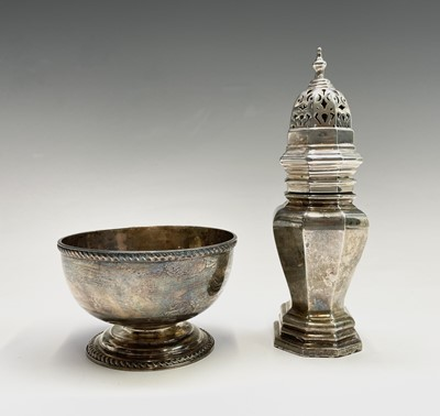 Lot 38 - A silver vase form sugar dredger by Edward...