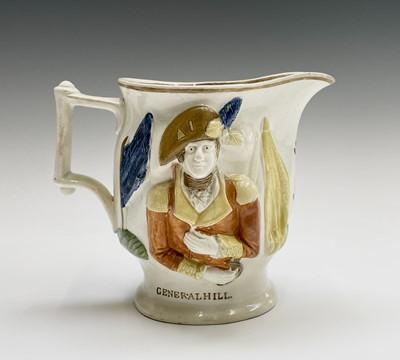 Lot 813 - A 19th century Staffordshire pottery jug,...