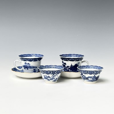 Lot 323 - Two Chinese export blue and white porcelain...
