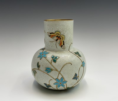 Lot 823 - A Royal Worcester Aesthetic movement vase,...