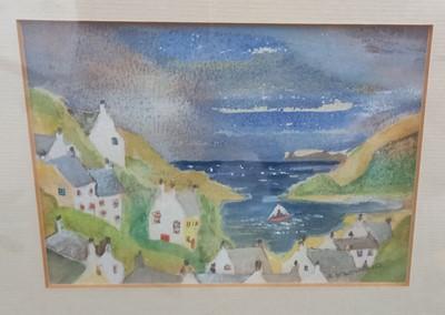 Lot 7 - Barbara DALGARNO 'Cornish Dawn', watercolour,...