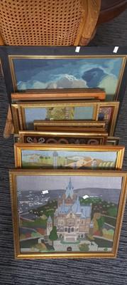 Lot 23 - Twenty two framed tapestries depicting various...