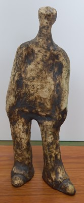 Lot 9 - An unusual raku-fired studio pottery figurine,...