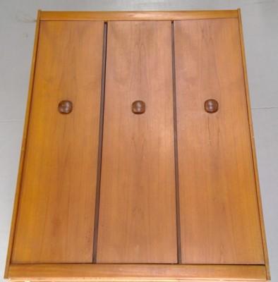 Lot 5 - A mid-century teak EON wardrobe, height 175cm...