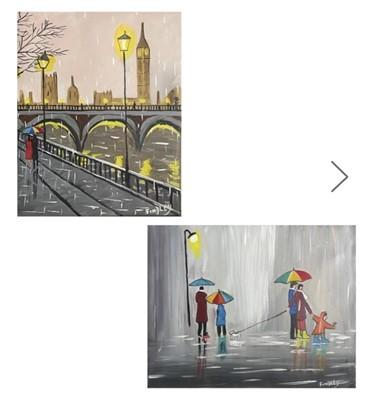 Lot 19 - William F. BURNS (1949) 'Walking in the Rain'...