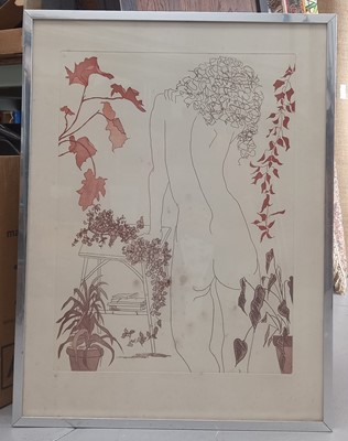 Lot 20 - Sheila OLINER (1930-2020), Girl with plants,...