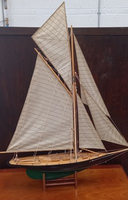 Lot 21 - A model of the gaff-rigged cutter Pen Duick...