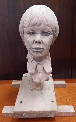 Lot 3 - Alec WILES (1924-2021) A pottery boy bust on a...
