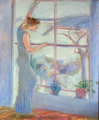 Lot 58 - Rose HILTON Across the Bay (Val) Oil on canvas...