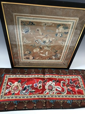 Lot 7 - A Chinese possibly 19th-century embroidery...