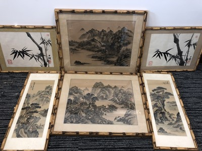 Lot 9 - A pair of 20th century Chinese watercolour and...