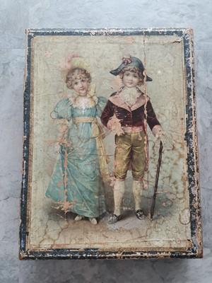 Lot 11 - A large antique Victorian wooden block jigsaw...