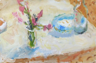 Lot 1 - Alice MUMFORD (1965) 'Pink Flowers and...