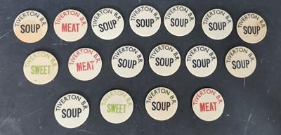 Lot 23 - Seventeen antique British Rail Tiverton food...