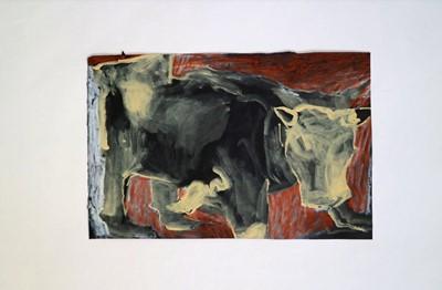 Lot 25 - Eleanor MUMFORD Postcard of an Ox Charcoal,...