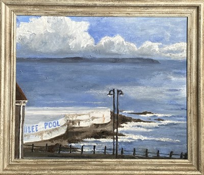 Lot 26 - Evie BOND The Jubilee Pool Oil and chalk on...