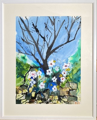 Lot 21 - Sid WILGROVE 'Spring Hedgrow' Mixed media...
