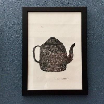 Lot 6 - Sophie HARDING 'Teapot no.3' Monotype on shoji...