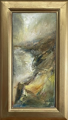 Lot 34 - Steve SLIMM (1953) Towards Prussia Cove from...