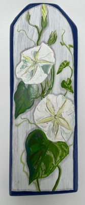 """Lot 11 - Alice ELLIS-BRAY """"Moonflowers"""" Oil on wood..."""