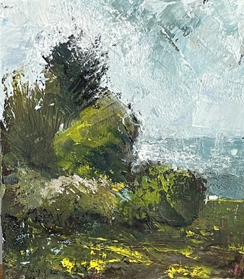 Lot 12 - Maggie O'BRIEN 'Daffodils to the Sea' Oil on...