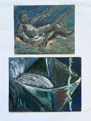 Lot 28 - Ivan BRAY (1967) Two small oils on board 20 x...