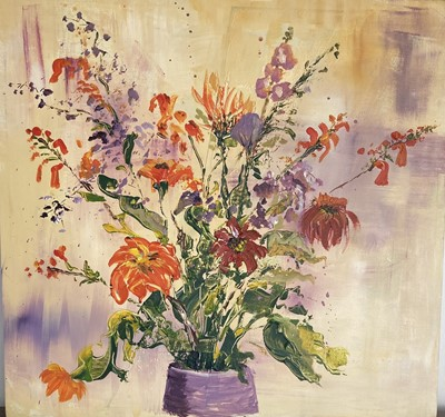 """Lot 42 - Gill Fickling""""Autumn Flowers"""", 2020Acrylic on..."""