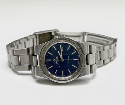 Lot 6 - A ladies Omega stainless steel automatic...