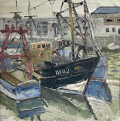 Lot 20 - Fred YATES (1922-2008) Fishing Boats at...