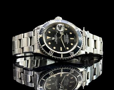 Lot 16 - A Rolex stainless steel Submariner wristwatch...