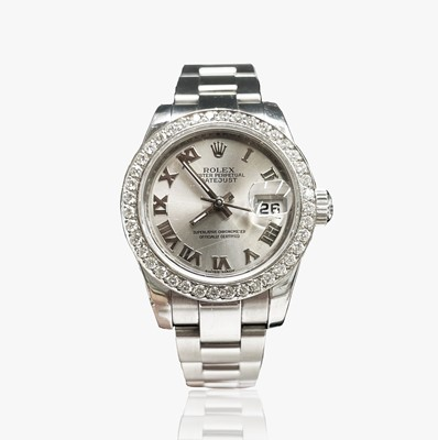 Lot 7 - A Rolex ladies Oyster Perpetual Datejust...