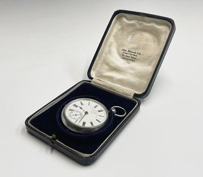 Lot 29 - A silver cased open-face pocket watch by W C...
