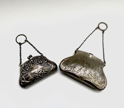 Lot 64 - An Edwardian silver Art Nouveau purse...