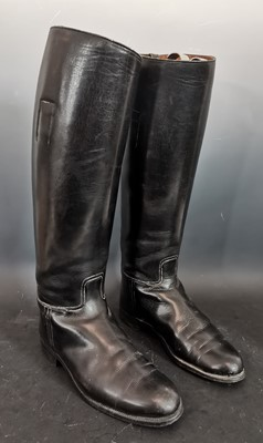 Lot 8 - A pair of ladies leather riding boots,...