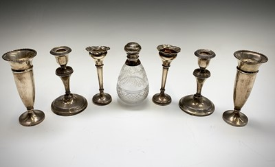 Lot 69 - A cut-glass pear form silver-mounted screw top...