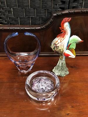 Lot 11 - Murano glass cockerel, height 26cm, Czech...