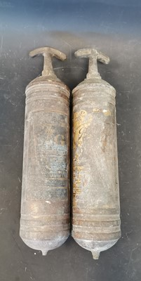 Lot 22 - A pair of vintage pyrene fire extinguishers.
