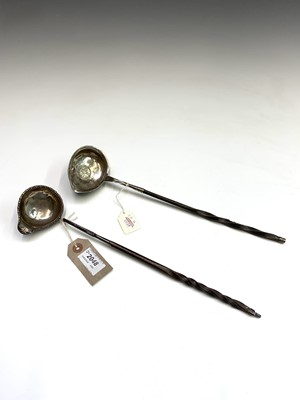 Lot 87 - A George III punch ladle, 1772, with spiral...