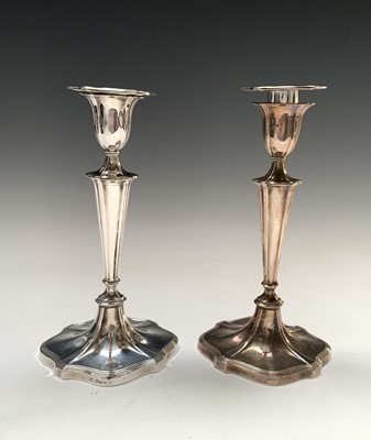 Lot 70 - A pair of Victorian Adam style filled silver...