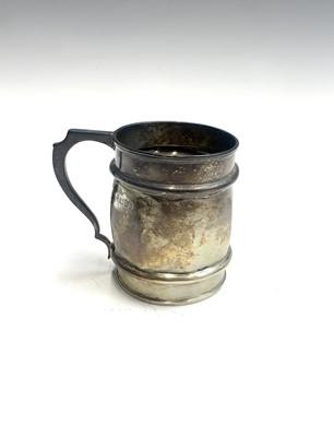 Lot 81 - An unusual octagonal silver barrel mug by...
