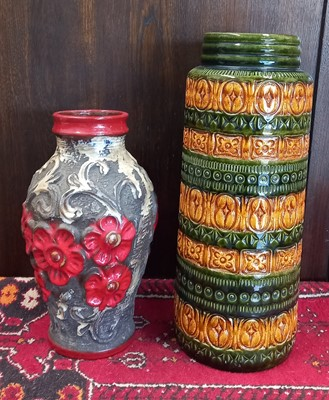 Lot 23 - Two West German vases, 32cm and 41cm.