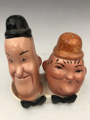 Lot 3 - Beswick pottery Laurel and Hardy salt and...