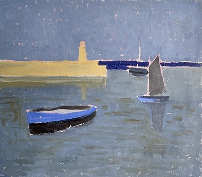 Lot 93 - Jeremy LE GRICE (1936-2012) Three Boats, St...