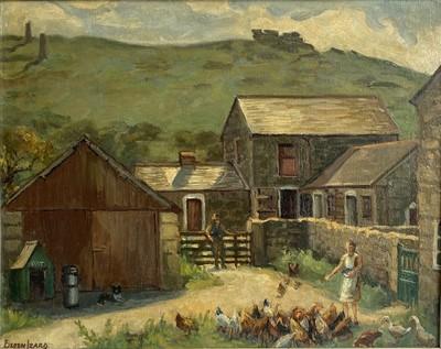 Lot 18 - Eileen IZARD (XIX-XX) Feeding the Chickens -...