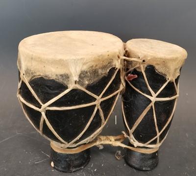 Lot 23 - Traditional ceramic Tam Tam drums.  Height:...