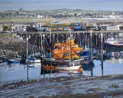 Lot 39 - Bernard EVANS (1929) The Lifeboat at Newlyn...