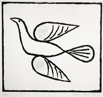 Lot 8 - Breon O'CASEY The Bird Etching Signed, dated...