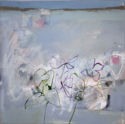 Lot 35 - Simon POOLEY (1955) Clematis Mixed media on...