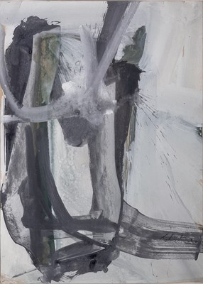 Lot 40 - Tony SHIELS (1938) Abstract Gouache Signed and...